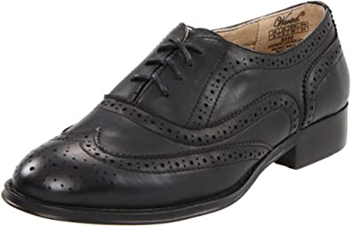 Wanted Shoes Women's Babe Oxford, Black, 6 M US