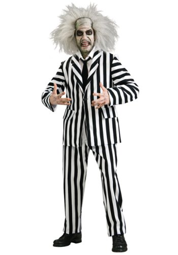 Rubies Mens Deluxe Beetlejuice Suit Grand Heritage Theme Party Costume