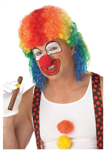 California Costumes Men's Clown Mullet Wig