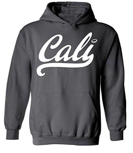 Raxo Cali Hoodie White Tee West Coast California Republic CA Hooded Sweatshirt XL Charcoal (Ca Hoodie compare prices)