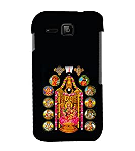 printtech Lord God Balaji Back Case Cover for Micromax Bolt S301