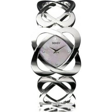 Seksy Pink Hidden Hearts Ladies Bracelet Watch - 4163.37