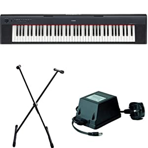 Yamaha NP31 Black Keyboard Package Inc Adaptor & Berkeley Universal X Frame Stand EXCLUSIVE to Rimmers Music