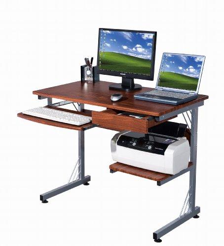Buy Low Price Comfortable Sharper Image SI2718-M615 Computer Workstation with 3-Port USB Hub , Wood Grain (B004M8RMES)