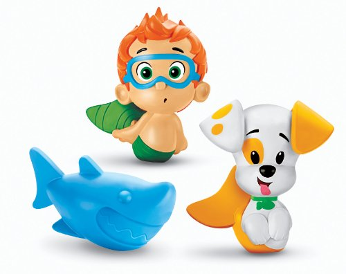 Fisher-Price Nickelodeon's Bubble Guppies Bath Squirters: Nonny, Bubble Puppy and Shark - 1