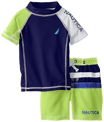 670fbf029b Nautica Boys 2-7 Rashguard Swim Set