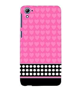 Pink Pattern 3D Hard Polycarbonate Designer Back Case Cover for HTC Desire 826::HTC Desire 826 Dual Sim::HTC Desire 826 DS (GSM + CDMA)