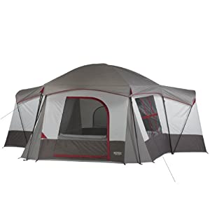 Wenzel Montreaux 10 Person Family Dome Tent (Grey/White)
