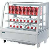 Polar Counter Top Refrigerated Display / 2 shelf Merchandiser - White.