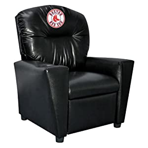 MLB Boston Red Sox Tween Faux Leather Recliner