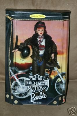 1998 Barbie Collector Edition : Harley Davidson Motor Cycles Red Head Barbie second in a series by MQTTEL (English Manual)
