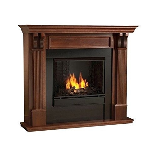 Real Flame Ashley Indoor Gel Fireplace Mahogany Lowes Electric Fireplace