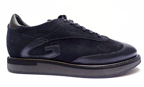 Alberto Guardiani -Guardiani Sport- sneakers da uomo in pelle/camoscio Blu, n. 39