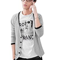 NEW Stylish Mens V Neck Casual Kknitwear Cardigan Coat