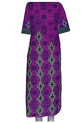 ADA Lucknawi Chikan Handmade Embroidered Exclusive Women Kurta Piece Dress A74480