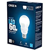Cree 60W Equivalent Daylight (5000K) A19 Dimmable LED Light Bulb (4-Pack)