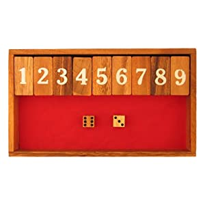 EXP Handmade Canoga / Shut the Box Game