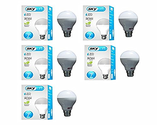 Skyled 7W LED Bulb (White, Pack Of 5)