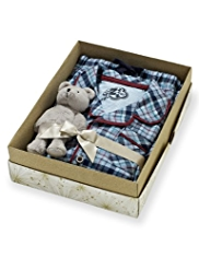 Pure Cotton Checked Pyjamas in Gift Box