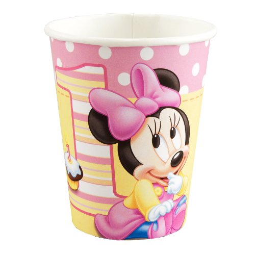 Hallmark Minnie's 1st Birthday 9 oz Cups - 8 ct