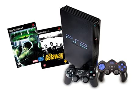 PS2 Console & 2 Game Bundle with Controller