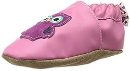 Robeez Owlivia Crib Shoe (Infant), Pink, 6-12 Months M US Infant