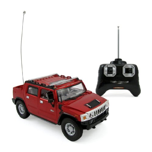 Hummer H2 SUT Full Function R/C Radio Remote Control Car 1:24 Scale (Red or Blue) (Radio Control Hummer compare prices)