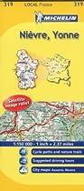 Michelin Map No. 319 Nievre, Yonne (France) scale 1 cm : 5 km
