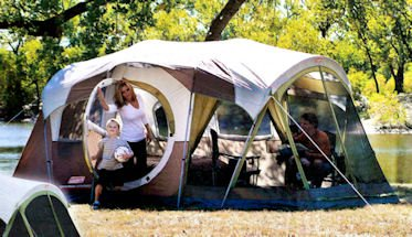 Coleman WeatherMaster 10 Person 3 Room Tent with Screen Room & Review Coleman WeatherMaster 10 Person 3 Room Tent with Screen Room