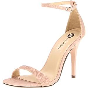 Michael Antonio Women's Jaxine Rep Sandal,Blush,8 M US