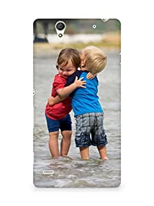 Amez designer printed 3d premium high quality back case cover for Sony Xperia C4 (Kids love children cool)
