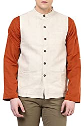 Indus Route by Pantaloons Men's Polyester Waistcoat 205000005638672_ Size_X-Large