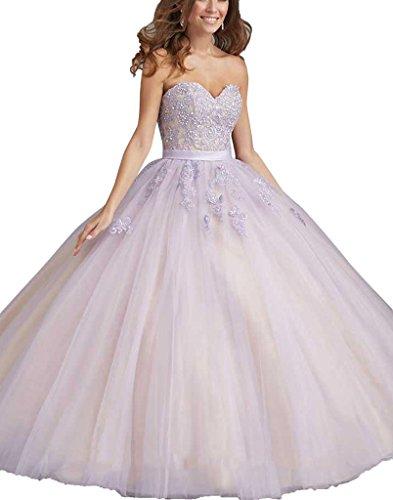 bdeb044093e9 SecretCastle Women's Fashion Sweetheart Lace Long Party Ball Gown 2015 Size  2 US Lilac