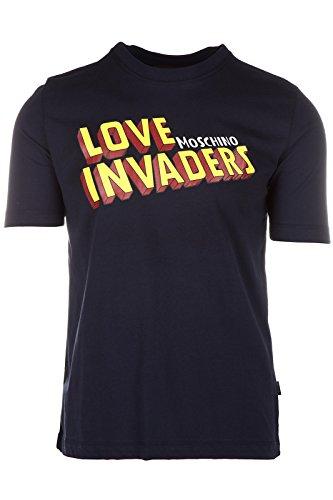 Love Moschino t-shirt maglia maniche corte girocollo uomo blu EU M (UK 38) M 4 732 13 M 3661 Y9