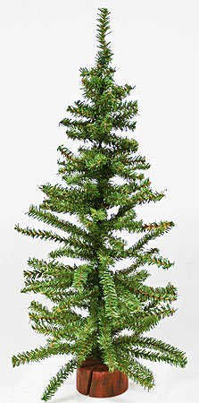 24″ Artificial Pine Christmas Tree on Wood Base