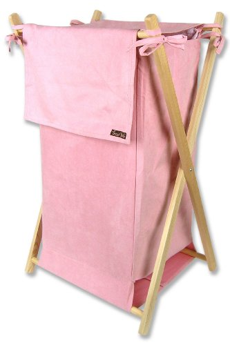 Trend Lab Ultra Suede Hamper, Pink - 1