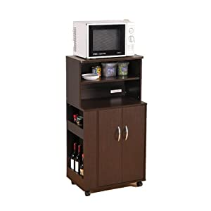 Kitchen Microwave Cart with Spice Rack
