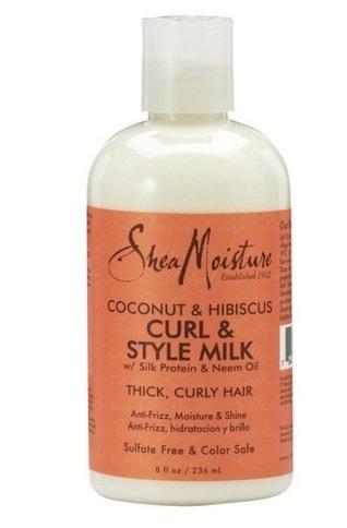 SheaMoisture Coconut & Hibiscus Curl & Style Milk 230ml ココナッツ&ハイビスカスカール&スタイルミルク [並行輸入品]