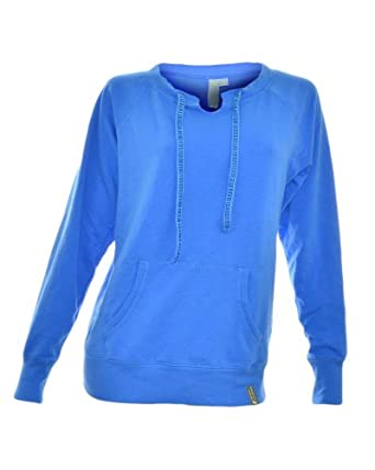 Green Tea Women's Fleeve Pullover (Small, Ocean Blue)