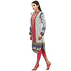 Ali Colours Trendy And Stylish Printed And Embroidered Kurti In Pure cotton Fabric For Women