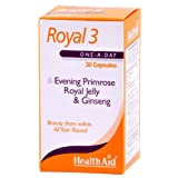 HealthAid Royal 3 - 30 Capsules (Evening Primrose, Royal Jelly And Ginseng)