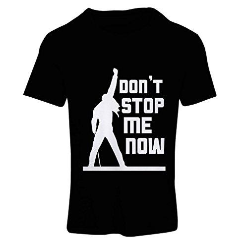 N4382F T-shirt female Don't stop me now! (Medium Nero Multicolore)