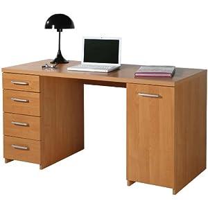 Scrivania legno kit anta e cassettiera laterale faggio for Cassettiera amazon