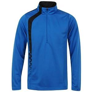 Reebok - Td-Zigls Mens Shirt In Buff Blue /Black, Small, Buff Blue /Black
