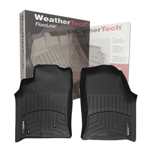 2012-2014 Ford Mustang Front Set - WeatherTech Custom Floor Mats Liners - Black (Weathertech Mustang 2010 compare prices)