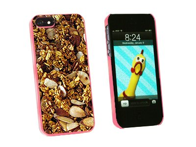Granola - Nuts Grains - Vegetarian - Snap On Hard Protective Case for Apple iPhone 5 5S - Pink