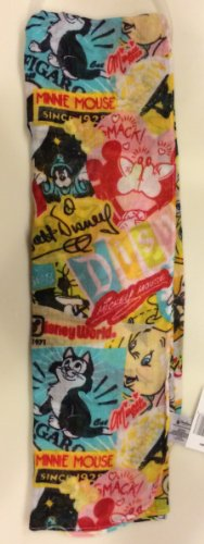 Disney Park Exclusive Mickey Mouse Collage Pattern Scarf NEW