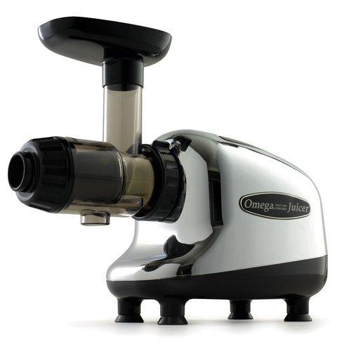 Omega Commercial Masticating Juicer, Chrome/Black J8005 1 ea
