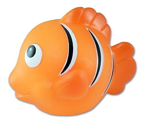 Puzzled Bath Buddy Orange Reef Fish Water Squirter - 1