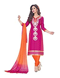 RK Fashion Womens Cotton Un-Stitched Salwar Suit Dupatta Material ( MITTAL-SANAM-7004-Pink-Free Size )